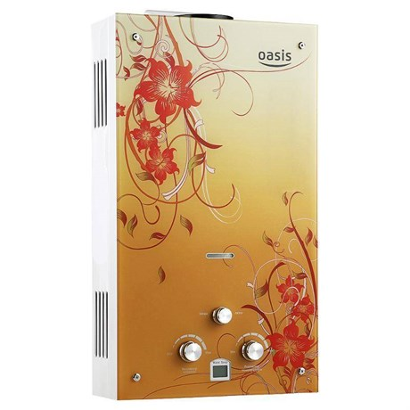 Газовая колонка Оазис Glass 20 BG абстр на жёл фон - фото 5574