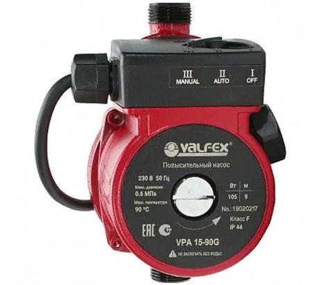 Компактный повысительный насос VALFEX  VPA 15-90 (с гайками) - фото 7157