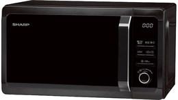 Микроволновая печь Sharp R6852RK (черная, 20л,гриль)