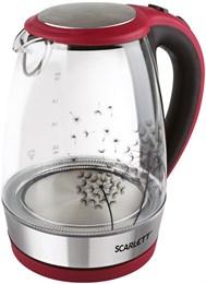 Scarlett SC-EK27G49 Чайник электрический на подставке (красный с черным)