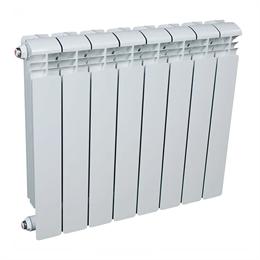 Радиатор алюминиевый AQUAPROM AL 500/80/8 секций. A21 (синий квадрат)