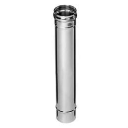 Дымоход  0,5м (430/0,5 мм)  Ф130 (уп. 4 шт)