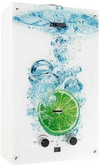Газовая колонка Zanussi GWH 10 Fonte Glass Lime (лайм) - фото 12887