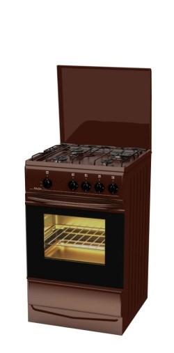 Газовая плита Лада PR 14.120-04 BR коричневая с крышкой - фото 6733