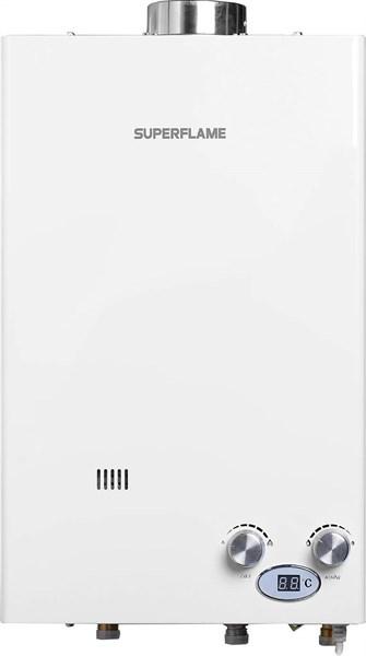Газовая колонка SUPERFLAME SF0420Т (белый) 10 л. ПолуТурбо(труба в комплекте) - фото 6947