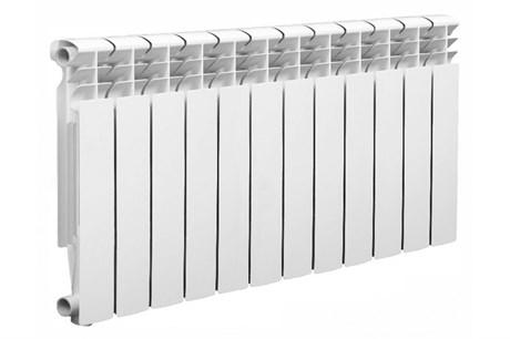 Радиатор алюминиевый AQUAPROM AL 500/100/12 секций. A11 (синий квадрат) - фото 9260