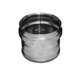 Заглушка внешняя д/трубы (430/0,5 мм) Ф125 (нижняя (уп. 10 шт)