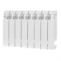 Радиатор бимет. AQUAPROM BI 350/80/8 секций. B41 (зеленый квадрат)