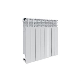 Радиатор алюминиевый AQUAPROM AL 500/100/8 секций. A11 (синий квадрат)