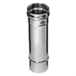 Дымоход  0,25м (430/0,5 мм)  Ф110 (уп. 4 шт)