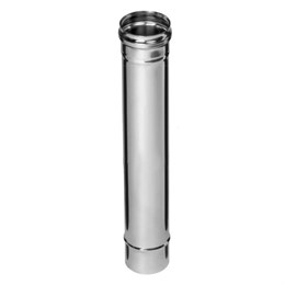 Дымоход  0,5м (430/0,5 мм)  Ф110 (уп. 4 шт)
